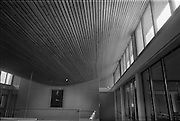 04/06/1964<br /> 06/04/1964<br /> 04 June 1964<br /> Sisk's new offices and premises at Naas Road, Clondalkin, Dublin. View of curved timber ceiling with a painting of company founder John Sisk.