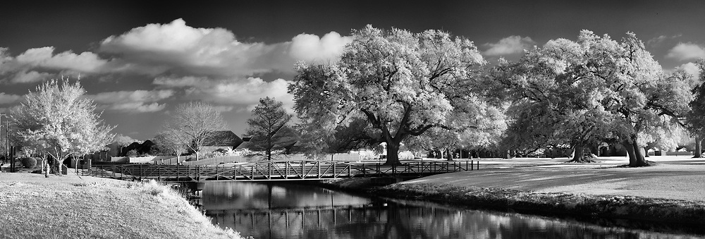 Infrared Image of Memorial Park Houma, Louisiana