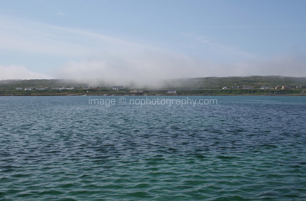 Cloud hanging low on Inis Mor Aran Islands County Galway Ireland