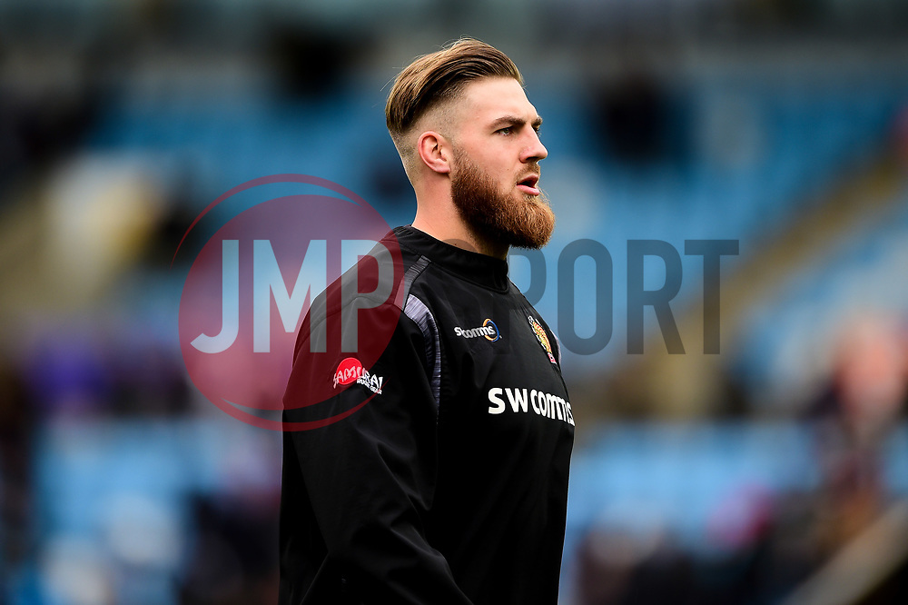 Toby Salmon of Exeter Chiefs prior to kick off - Mandatory by-line: Ryan Hiscott/JMP - 14/04/2019 - RUGBY - Sandy Park - Exeter, England - Exeter Chiefs v Wasps - Gallagher Premiership Rugby
