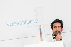"""04.04.2019, Erste Campus, Wien, AUT, Voestalpine, Pressekonferenz zur Präsentation der Siegertropähe der Voestalpine European Races, im Bild Formel E Rennfahrer Lucas di Grassi // Formula E driver Lucas di Grassi during an media briefing of the Voestalpine with the presentation of the winners trophy for the """"voestalpine EUROPEAN RACES"""" in Vienna, Austria on 2019/04/04, EXPA Pictures © 2019, PhotoCredit: EXPA/ Michael Gruber"""