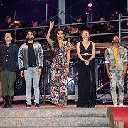 NLD/Rosmalen/20190620 - Aida in concert, Tjindjara, Tony Neef, Freek Bartels, April Darby en Willemijn Verkaik met de cast van Aida