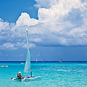 Activities on Playa del Carmen's beach are typical of the zone, like snorkeling, scuba-diving sailing, and also near-by cenote diving for those looking for a change of pace from the sandy beaches.