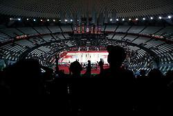 Green Dragons, fans of Olimpija during Euroleague Top 16 basketball match between Lottomatica Virtus Roma (ITA) and KK Union Olimpija Ljubljana (SLO) in Group F, on January 20, 2011 in Arena PalaLottomatica, Rome, Italy. Olimpija defeated Lottomatica 64 - 63. (Photo By Vid Ponikvar / Sportida.com)