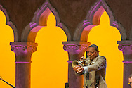 Wynton Marsalis performs with the Jazz at Lincoln Center Orchestra in the Venetian Theater at Caramoor in Katonah New York on July 18, 2015. <br /> (photo by Gabe Palacio)