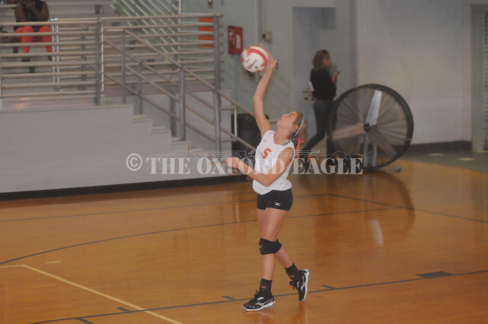 Lafayette High vs. Corinth in high school playoff volleyball action in Oxford, Miss. on Saturday, October 25, 2014. Corinth won.
