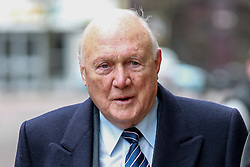 © Licensed to London News Pictures . 01/03/2013 . Preston , UK . STUART HALL arrives at Preston Crown Court today (1st March 2013) . The broadcaster is accused of rape and sexual assault . Photo credit : Joel Goodman/LNP