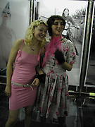 Brani Rhodes and Miri Elia. Smile1-D in association with Emporio Armani.  Wapping Power Station. 3 April 2001. © Copyright Photograph by Dafydd Jones 66 Stockwell Park Rd. London SW9 0DA Tel 020 7733 0108 www.dafjones.com