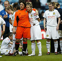 Photo: Chris Ratcliffe.<br /> Leeds United v Arsenal. Womens' FA Cup Final. 01/05/2006.<br /> Leeds Ladies are guuted at the result.