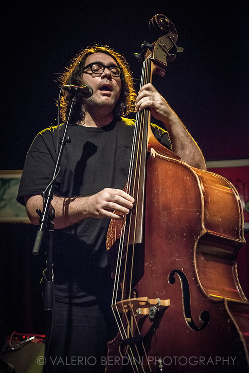 James McNew of Yo La Tengo live at London Shepherd's Bush Empire on 20 October 2015