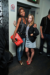 Left to right, TOLULA ADEYEMI and NATHALIE PRESS at a party and screening of Jonathan Kelsey & Sara Dunlop's short film 'High' held at Soho House, Old Compton Street, London on 15th July 2009.