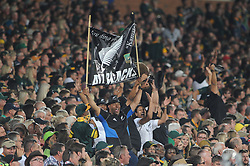 Pretoria, Loftus Versveld Stadium. Rugby Championship. South African Springboks vs New Zealand All Blacks.  06-10-18 All Blacks fans show their colours during the game.<br /> Picture: Karen Sandison/African News Agency(ANA)