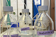 Microbiology Laboratory Chemical bottles
