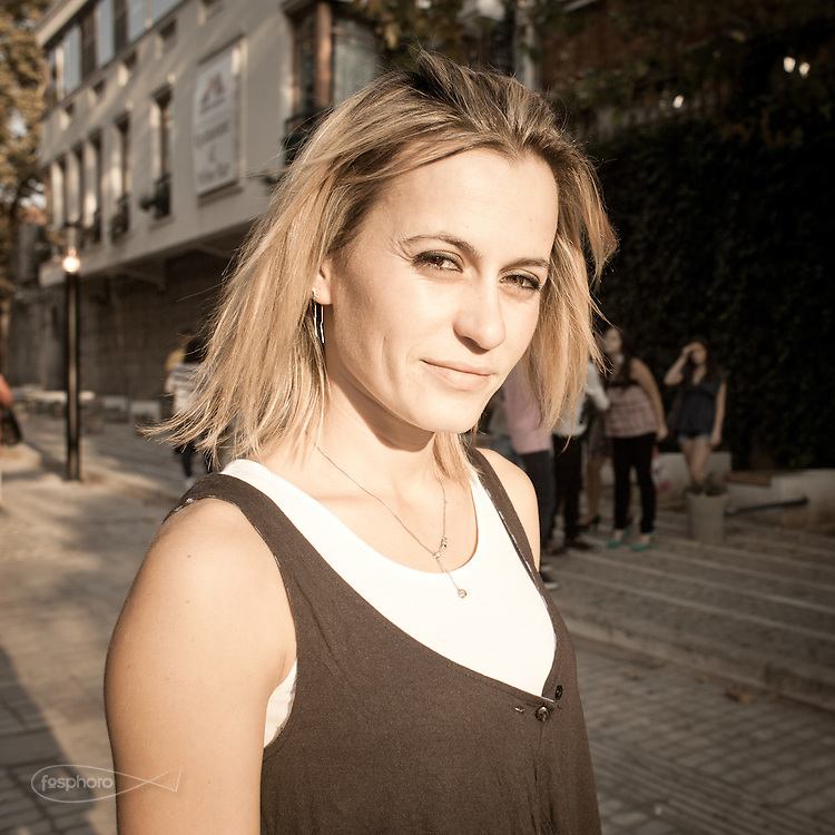 Gjonaj Lorenc, 24 years. Military Albanian army and athlete. She does not see Italy as a promised land, but she wants to stay in Albania.