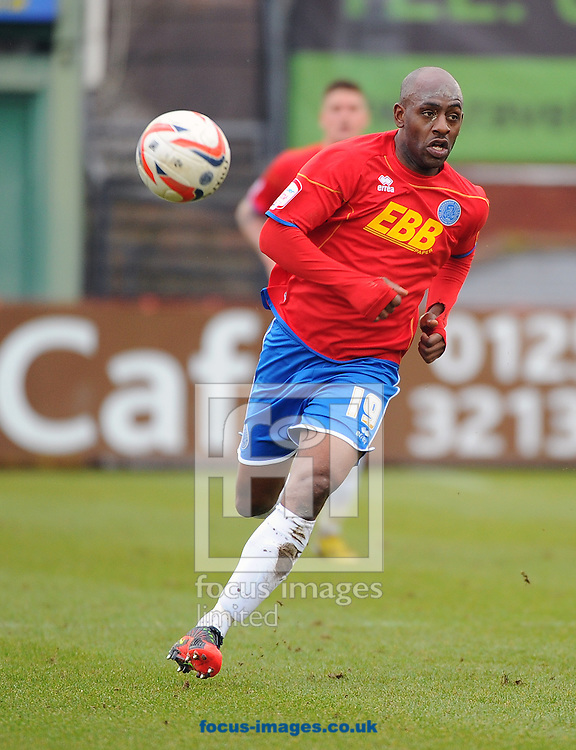 Picture by Seb Daly/Focus Images Ltd +447738 614630.16/03/2013.Terrell Forbes of Aldershot Town during the npower League 2 match at the EBB Stadium, Aldershot.
