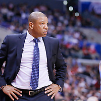 15 April 2014: Los Angeles Clippers head coach Doc Rivers is seen during the Los Angeles Clippers 117-105 victory over the Denver Nuggets at the Staples Center, Los Angeles, California, USA.