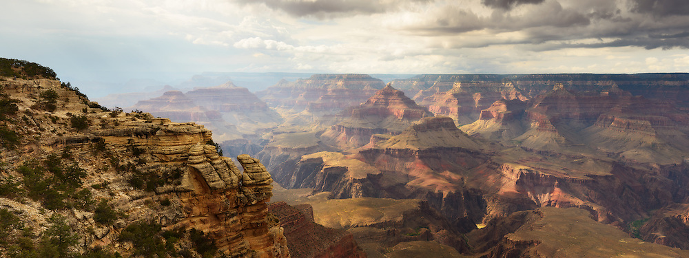The typically dry air of the Grand Canyon becomes soaked with the moisture of the monsoon season which runs from July through September. The monsoon brings cooling rains and dramatic skies to the Grand Canyon region.