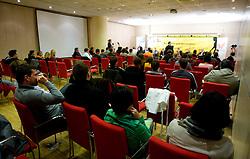 """Okrogla miza na temo """"Slovenska kosarka - le kos do svetovnega vrha?"""" v organizaciji SportForum Slovenija, 19. oktober 2009, Austria Trend Hotel, Ljubljana, Slovenija. (Photo by Vid Ponikvar / Sportida)"""