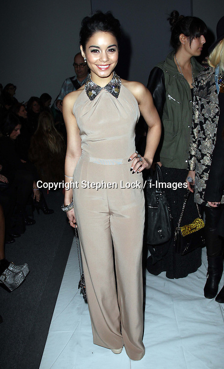 Vanessa Hudgens at the Jenny Packham show at New York Fashion Week for Autumn/Winter 2013 , Tuesday, February 12th 2013. Photo by: Stephen Lock / i-Images