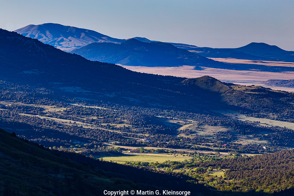 A secenic view of northern New Mexico, as viewed from Sugarite Canyon State Park.