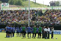 Die Brasilianer treten zum ersten Training in der ausverkauften Thermoplan Arena an. © Urs Bucher/EQ Images