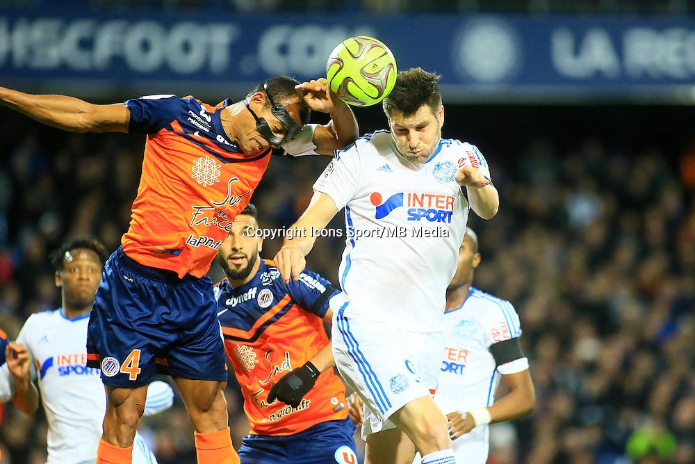 Vitorino HILTON / Andre Pierre GIGNAC - 09.01.2015 - Montpellier / Marseille - 20eme journee de Ligue 1<br />Photo : Nicolas Guyonnet / Icon Sport