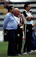18.11.1990.Vice-president Eurico Miranda and coach Mario Jorge Lobo Zagallo of CR Vasco da Gama.©JUHA TAMMINEN