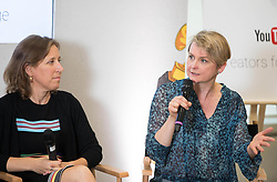 EDITORIAL USE ONLY<br /> Yvette Cooper MP, Chair of the Home Affairs Select Committee, joins Susan Wojcicki (left), CEO YouTube, at a YouTube Internet Citizens workshop, which aims to tackle online hate and fake news, at the Google Academy in Victoria, London.
