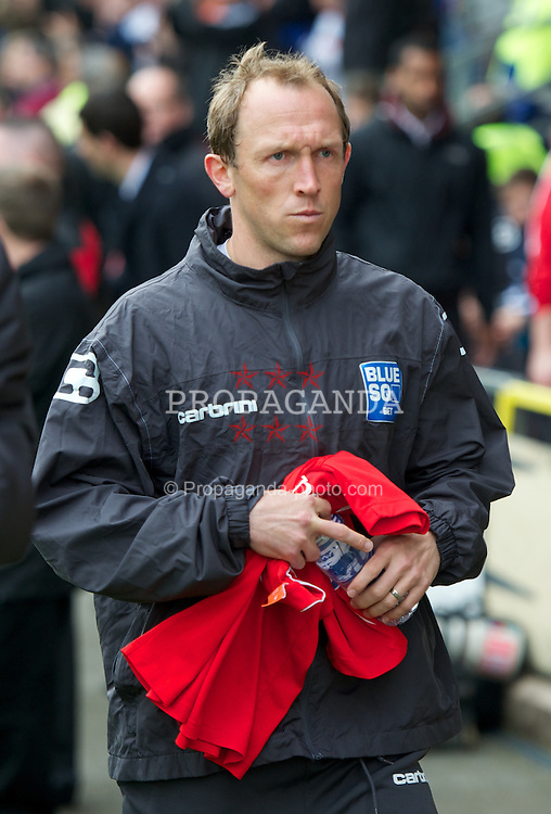 WREXHAM, WALES - Monday, May 7, 2012: Wrexham's player-manager Andrew Morrell before the Football Conference Premier Division Promotion Play-Off 2nd Leg against Luton Town at the Racecourse Ground. (Pic by David Rawcliffe/Propaganda)