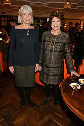 Left to right, LADY ANNE LAMBTON and LADY ASHCOMBE at a party hosted by Pace Gallery as part of Frieze 2015 held at 45 Jermyn Street, London on 15th October 2015.