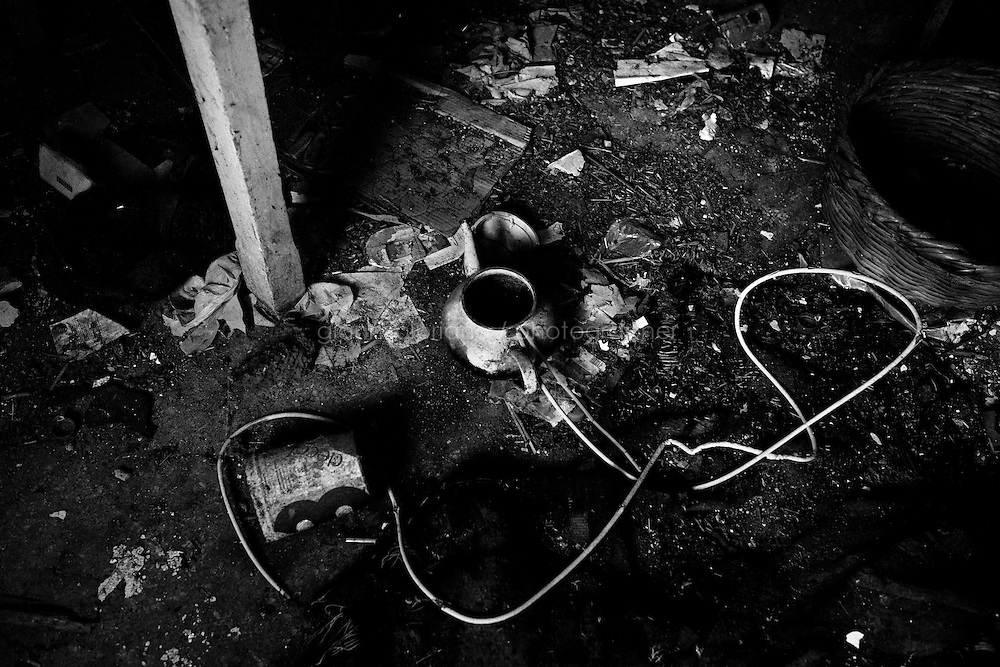 Kairouan, Tunisia - 18 December, 2011: A teapot lies on the floor of the abandoned house of Said Ferjani's father who died in 2006, in Kairouan, Tunisia on 18 December, 2011. Said Ferjan's father died in Kairouan 2006 while Said was in exile in the UK since 1989. Said Ferjani started his activism in the Negra mosque of his hometown Kairouan when he was 16 years old, debating on politics, philosophy, economy and world events. In 1989 former dictator Zine El Abidine Ben Ali turned against Nahda (or Ennahda) and jailed 25,000 activists. Said Ferjani was jailed and tortured. He then flew Tunisia and moved to the UK. He came back to Tunisia after 22 years, after former dictator Ben Ali flew the country.<br /> <br /> Gianni Cipriano for The New York Times