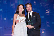 Margaret Russell, Architectural Digest Editor in Chief, and Nate Berkus. Ms. Russell was presented with the HRC Ally for Equality Award at the HRC's Greater NY Gala 2014 held at the Waldorf=Astoria in New York City on Saturday, February 8, 2014. (Photo: JeffreyHolmes.com)