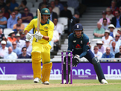 June 13, 2018 - London, England, United Kingdom - Ashton Agar of Australia.during One Day International Series match between England and Australia at Kia Oval Ground, London, England on 13 June 2018. (Credit Image: © Kieran Galvin/NurPhoto via ZUMA Press)