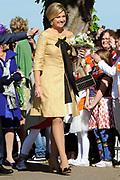 Koninginnedag 2012 in de Utrechtse gemeente Rhenen.// Queensday 2012 in the city of Rhenen.<br /> <br /> Op de foto:  Prinses Maxima