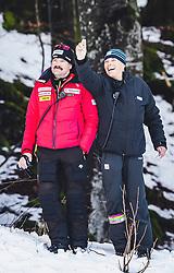 31.01.2020, Kandahar, Garmisch, GER, FIS Weltcup Ski Alpin, Abfahrt, Herren, 2. Training, im Bild Thomas Stauffer (Swisski Cheftrainer Ski Alpin Herren), Markus Waldner (FIS Chef Renndirektor Weltcup Ski Alpin Herren) // Thomas Stauffer Swissski Head Coach Alpine Skiing Men Markus Waldner Chief Race Director World Cup Ski Alpin Men of FIS in action during his 2nd trainings run of men's Downhill of FIS ski alpine world cup at the Kandahar in Garmisch, Germany on 2020/01/31. EXPA Pictures © 2020, PhotoCredit: EXPA/ Johann Groder