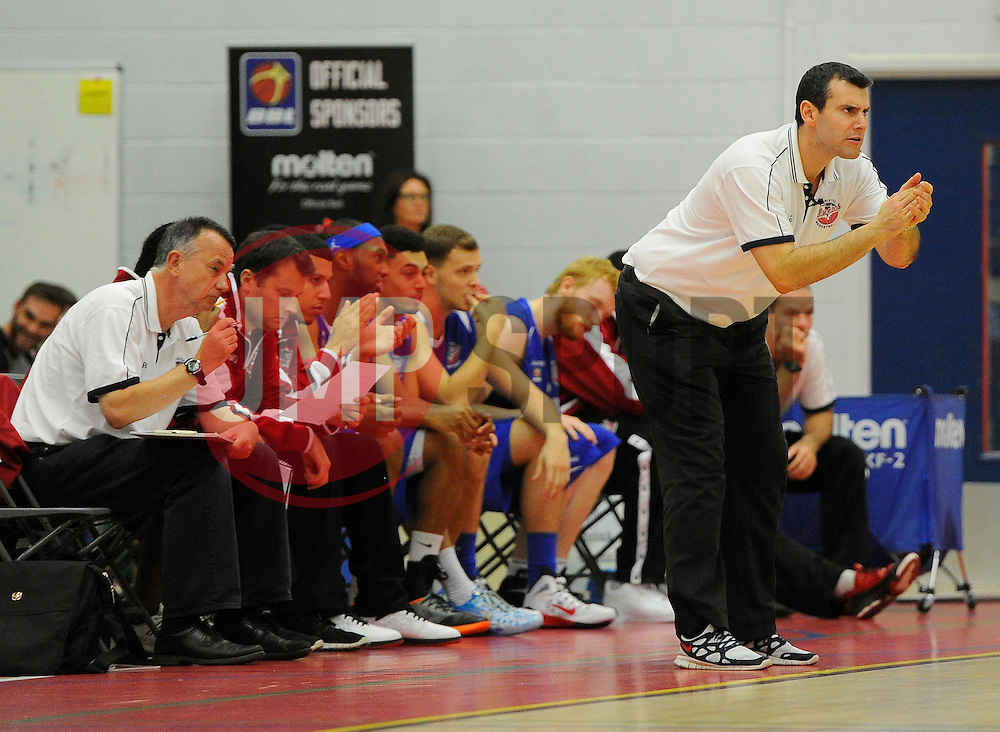 Bristol Academy Flyers head coach, Andreas Kapoulas  - Photo mandatory by-line: Joe Meredith/JMP - Mobile: 07966 386802 - 27/09/2014 - SPORT - Basketball - Bristol - SGS Wise Campus - Bristol Academy Flyers v Plymouth Uni Raiders - British Basketball League