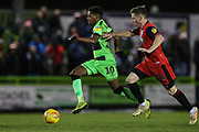 Forest Green Rovers Reece Brown(10) runs forward during the EFL Sky Bet League 2 match between Forest Green Rovers and Grimsby Town FC at the New Lawn, Forest Green, United Kingdom on 22 January 2019.