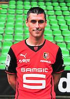 Julien FERET - 19.09.2013 - Photo officielle - Rennes - Ligue 1<br /> Photo : Philippe Le Brech / Icon Sport