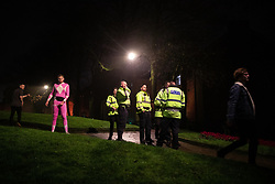 © Licensed to London News Pictures . 27/12/2018. Wigan, UK. Police arrive after a fight breaks out . Revellers in Wigan enjoy Boxing Day drinks and clubbing in Wigan Wallgate . In recent years a tradition has been established in which people go out wearing fancy-dress costumes on Boxing Day night . Photo credit: Joel Goodman/LNP