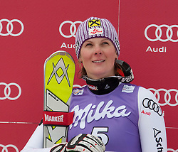 19.12.2010, Val D Isere, FRA, FIS World Cup Ski Alpin, Ladies, Super Combined, im Bild Nicole Hosp (AUT) during the medal ceremony for the women's Super Combined race at the FIS Alpine skiing World Cup Val D'Isere France. Lindsey Vonn (USA) won the race with Elisabeth Goergl (AUT) 2nd and Nicole Hosp (AUT) 3rd. EXPA Pictures © 2010, PhotoCredit: EXPA/ M. Gunn / SPORTIDA PHOTO AGENCY