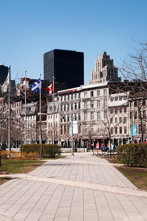 Leading from the Old Port of Montreal towards la rue de la Commune.(Quebec, Canada)