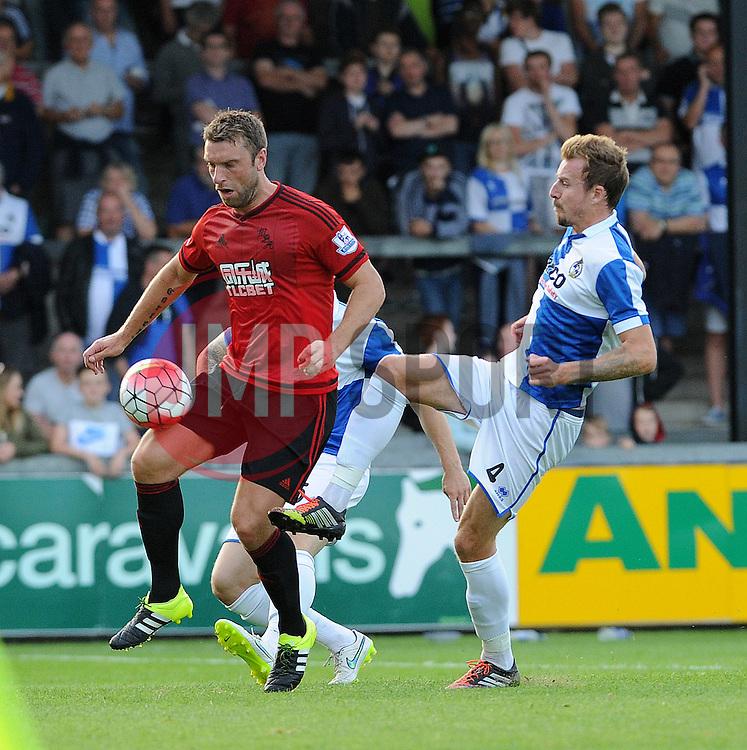 Chris Lines of Bristol Rovers - Mandatory by-line: Neil Brookman/JMP - 07966386802 - 31/07/2015 - SPORT - FOOTBALL - Bristol,England - Memorial Stadium - Bristol Rovers v West Brom - Pre-Season Friendly