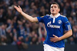 01.12.2011, Veltins Arena, Gelsenkirchen, GER, UEFA Europa League, FC Schalke 04 (GER) vs Steaua Bukarest (ROM), im Bild Kyriakos Papadopoulos (#14 Schalke) nach dem Tor zum 1-0 // during FC Schalke 04 (GER) vs Steaua Bukarest (ROM) at Veltins Arena, Gelsenkirchen, GER, 2011-12-01. EXPA Pictures © 2011, PhotoCredit: EXPA/ nph/ Kurth..***** ATTENTION - OUT OF GER, CRO *****