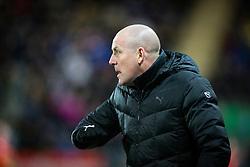 Rangers Manager: Mark Warburton. <br /> Falkirk 3 v 2 Rangers, Scottish Championship game player at The Falkirk Stadium, 18/3/2016.