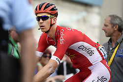 July 12, 2017 - Pau, FRANCE - Belgian Dimitri Claeys of Cofidis, Solutions Credits pictured before the start of the 11th stage of the 104th edition of the Tour de France cycling race, 203,5km from Eymet to Pau, France, Wednesday 12 July 2017. This year's Tour de France takes place from July first to July 23rd. BELGA PHOTO YORICK JANSENS (Credit Image: © Yorick Jansens/Belga via ZUMA Press)