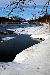 NORWAY FINNMARK 25MAR07 - River near Lakselv in Skytefelt National Park in Finnmark, Norway's northermost Arctic province...jre/Photo by Jiri Rezac..© Jiri Rezac 2007..Contact: +44 (0) 7050 110 417.Mobile:  +44 (0) 7801 337 683.Office:  +44 (0) 20 8968 9635..Email:   jiri@jirirezac.com.Web:    www.jirirezac.com..© All images Jiri Rezac 2007 - All rights reserved.