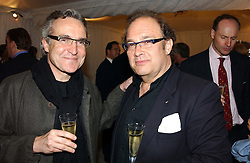 Left to right, STEPHEN BAYLEY he was the design consultant for the Millenium Dome and OLIVER ROTHSCHILD at a party hosted by Bentley motorcars held at The Orangery, Kensington Palace, London on 3rd November 2004.<br /><br />NON EXCLUSIVE - WORLD RIGHTS
