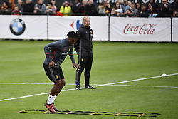October 2, 2017 - Tubize, BELGIUM - Belgium's Michy Batshuayi pictured during a training of Belgian national soccer team Red Devils, Monday 02 October 2017 in Tubize. The Red Devils will play a World Championships 2018 Qualification game against Bosnia on October 7th and against Cyprus on October 10th...BELGA PHOTO DIRK WAEM (Credit Image: © Dirk Waem/Belga via ZUMA Press)