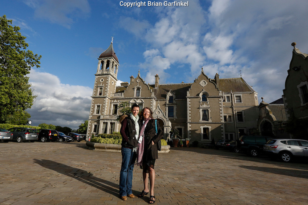 Allison and Lucille in front of the Killashee House Hotel, Naas, County Kildare, Ireland on Sunday, June 23rd 2013. (Photo by Brian Garfinkel)
