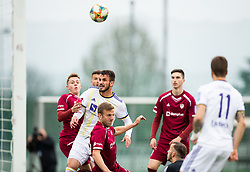 Saša Ivković of Maribor vs Aleš Mertelj of Triglav during Football match between NK Triglav and NK Maribor in 25th Round of Prva liga Telekom Slovenije 2018/19, on April 6, 2019, in Sports centre Kranj, Slovenia. Photo by Vid Ponikvar / Sportida